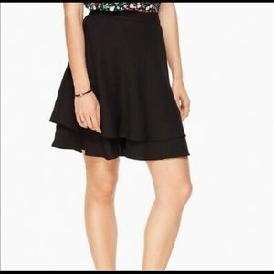 Kate Spade Double Layer Satin Skirt